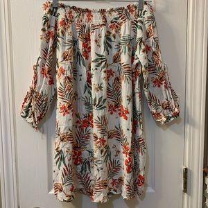 Floral Off-the-Shoulder Mini Dress